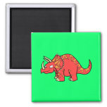Angry Red Triceratops - Dinosaur-gifts.com Fridge Magnet