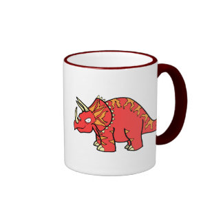 Angry Red Triceratops - Dinosaur-gifts com Mugs