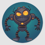 Angry Robot Round Stickers