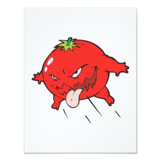 angry rotten tomato cartoon character custom invitation