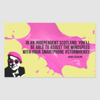 Angry Salmond Quote Rectangular Sticker