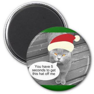 Angry Santa Cat Magnet