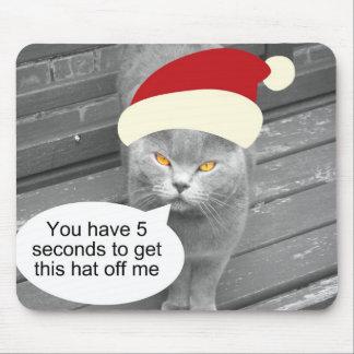 Angry Santa Cat Mouse Pad