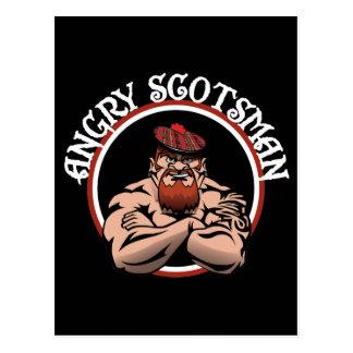 Angry Scotsman 2015 Postcard