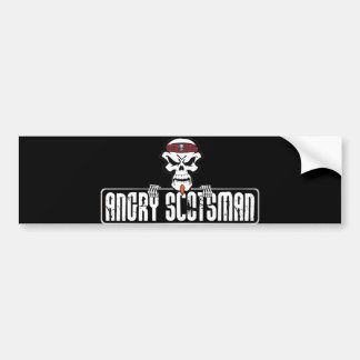 Angry-Scotsman Skull Bumper Sticker