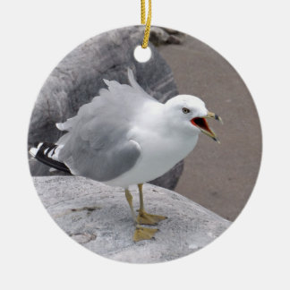 Angry Seagull Christmas Ornament