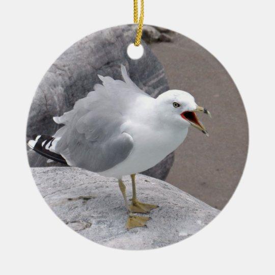 Angry Seagull Christmas Ornament