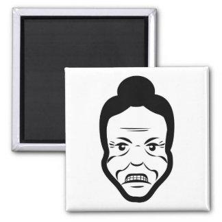 Angry Senior Fridge Magnet