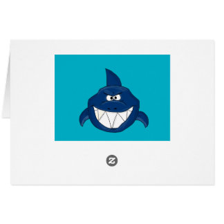 Angry shark card
