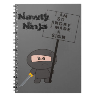 """Angry Sign"" Notbook - A Nawty Ninja Design Note Book"