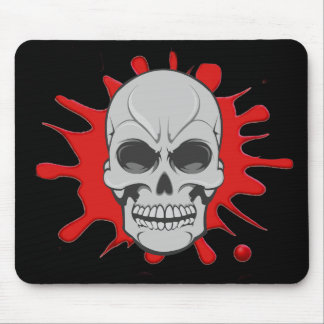 Angry Skull & Blood Splat: Custom Mousepad