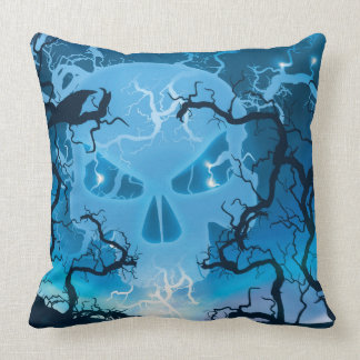 Angry Skull Throw Pillow