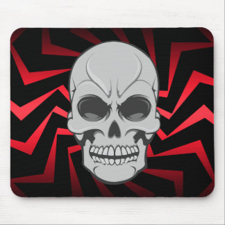 Angry Skull: Vector Illustration: Custom Mousepad