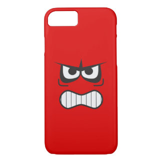 Angry Smiley Face Funny iPhone 8/7 Case