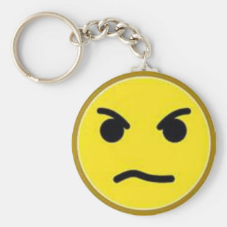 angry smiley key ring