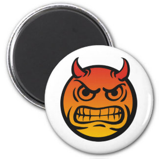 Angry Smiley Fridge Magnet