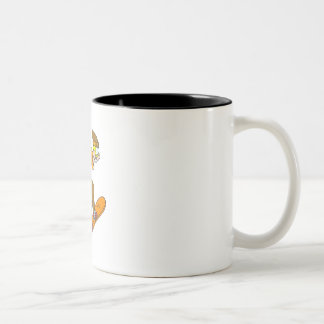 Angry Snowboarder Two-Tone Coffee Mug