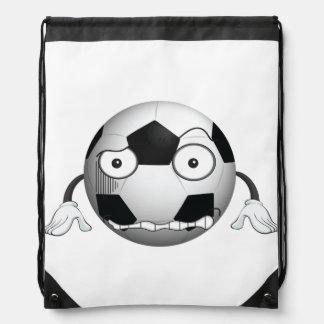 Angry Soccer Ball Drawstring Backpack