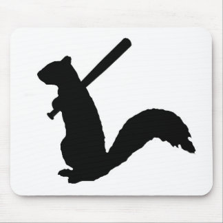 Angry Squirrel Logo Mouse Pad. Mouse Mat