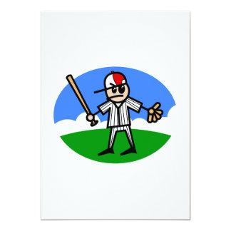 Angry Stick Man 13 Cm X 18 Cm Invitation Card