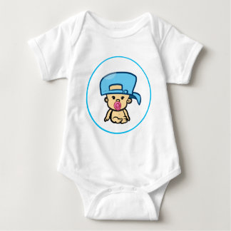 Angry Sucker with a hat Baby Bodysuit