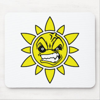 Angry Sun Mouse Pad