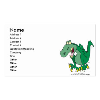 angry t-rex dino tantrum pack of standard business cards