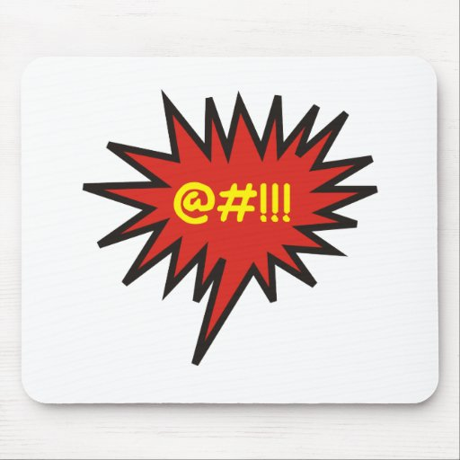 Angry Talk Comic Bubble Mouse Pad