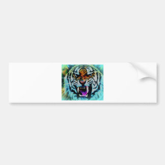 Angry tiger bumper sticker