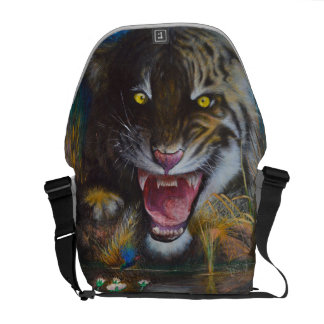 Angry tiger commuter bag