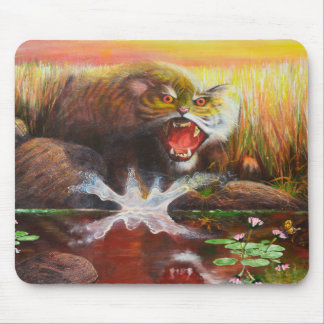angry tiger cub mousepad