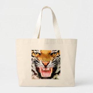 Angry Tiger - Eyes of Tiger Jumbo Tote Bag