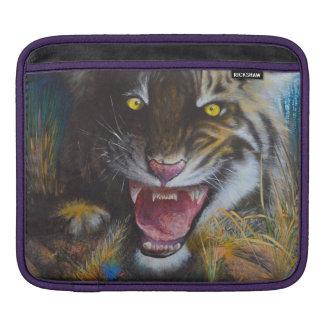 Angry tiger iPad sleeve