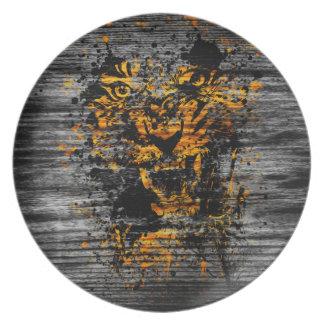 Angry Tiger Plate