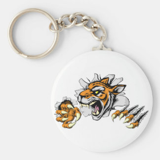 Angry Tiger sports mascot Keychains