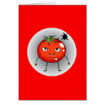 Angry tomato greeting cards