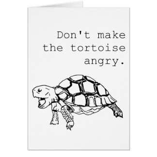 Angry Tortoise any occasion funny hand drawing Card