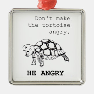 Angry Tortoise Christmas Ornament