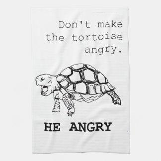 Angry Tortoise Tea Towel