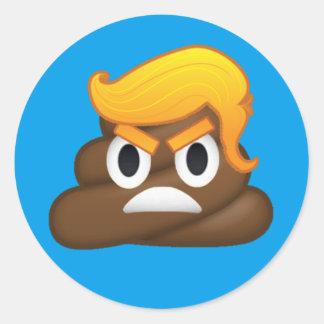 Angry Trump Round Sticker