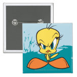 Angry Tweety 15 Cm Square Badge
