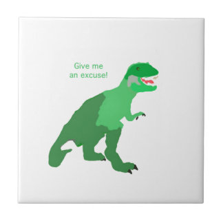 Angry Tyrannosaurs Rex Tile