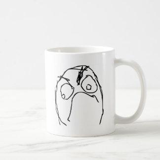 Angry Unhappy Meme Face Basic White Mug