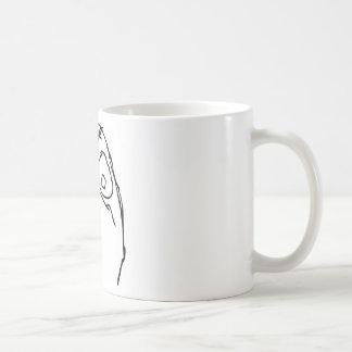 Angry Unhappy Meme Face Coffee Mug
