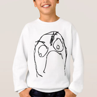 Angry Unhappy Meme Face Sweatshirt