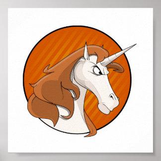 Angry Unicorn Poster