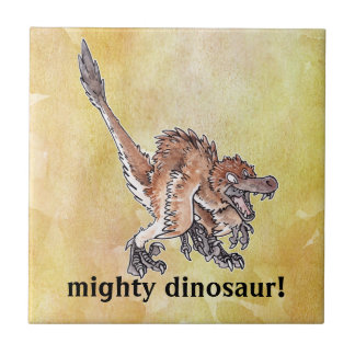 Angry Velociraptor Tile