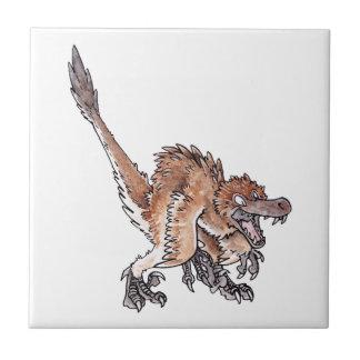 Angry Velociraptor Ceramic Tiles