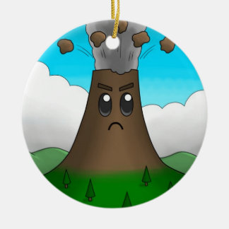 Angry Volcano (Two-Sided) Christmas Ornament