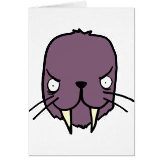 Angry Walrus Card